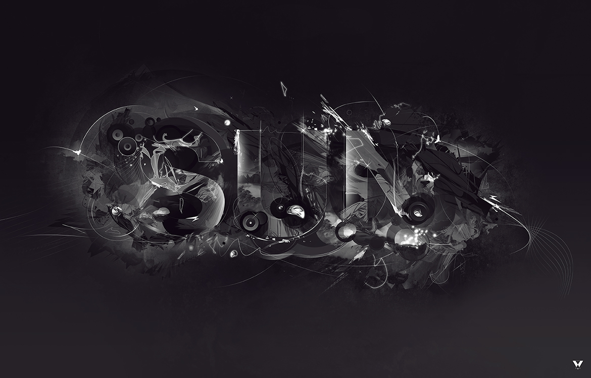 Sun Typography Illustration by eightvisions