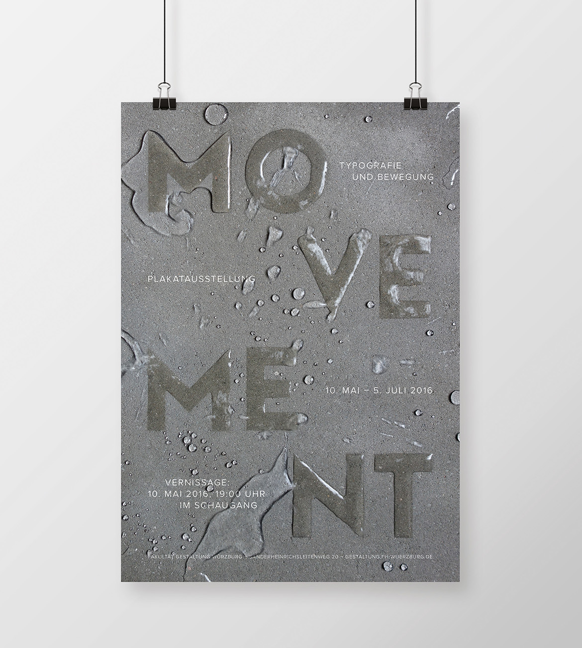 Movement Poster: Typography with Water