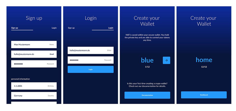 natch - blockchain bonus system concept